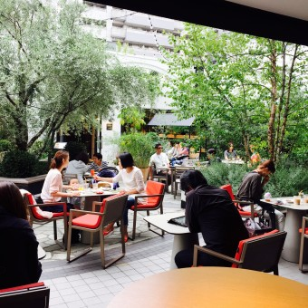 TENOHAカフェから見た中庭