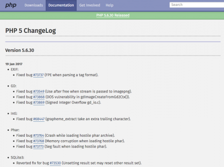 PHP 5 ChangeLog